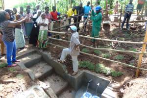 The Water Project: Buhayi Community, Nasichundukha Spring -  Site Management Training