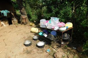 The Water Project: Emurumba Community, Makokha Spring -  Dishrack