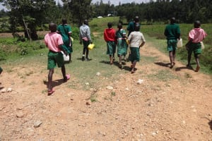 The Water Project: Mwichina Primary School -  Students Head To The Spring