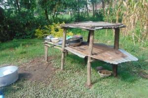 The Water Project: Mukangu Community, Metah Spring -  Dishrack