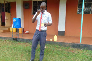 The Water Project: Ikumba Secondary School -  Toothbrushing Practice