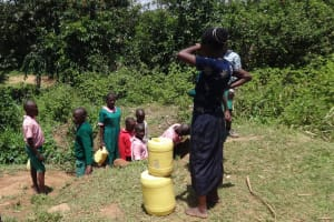 The Water Project: Mwichina Primary School -  At The Spring