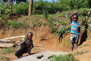 The Water Project: Eshikhugula Community, Shaban Opuka Spring -  New Sanitation Platform Beneficiaries