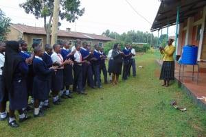 The Water Project: Ikumba Secondary School -  Handwashing Demonstration
