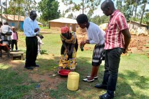 The Water Project: Shihingo Community, Inzuka Spring -  Handwashing Practice