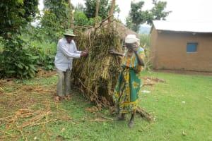 The Water Project: Sambaka Community, Sambaka Spring -  Bathroom Fence