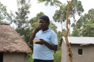 The Water Project: Kalenda B Community, Lumbasi Spring -  Ms Naomi Lumbasi Spring Landowner
