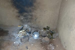 The Water Project: Munenga Community, Francis Were Spring -  Stove Are Inside Kitchen