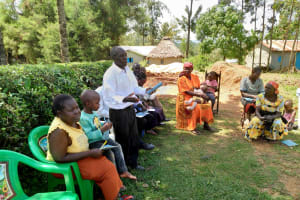 The Water Project: Shihingo Community, Inzuka Spring -  Answering A Question