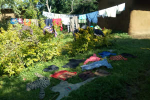 The Water Project: Sambaka Community, Sambaka Spring -  Clothes Drying