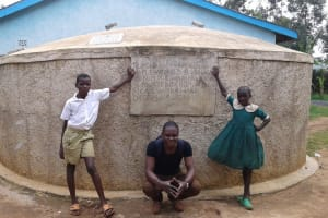 The Water Project: Mulwakhi Primary School -  Stuents With Field Officer Samuel