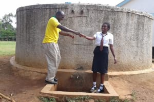 The Water Project: Essong'olo Secondary School -  Deputy Head Teacher Jason Asenga With Student