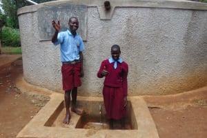 The Water Project: Namalasire Primary School -  Students Janet Makokha And Elius Kasim