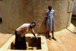 The Water Project: Emmaloba Primary School -  Mrs Andayi And Mary Atieno