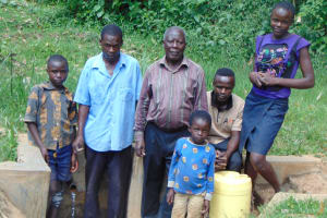 The Water Project: Lwenya Community, Warosi Spring -  Community Members At The Spring