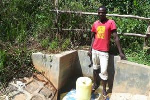 The Water Project: Elukani Community, Ongari Spring -  Kevin Eshiwani