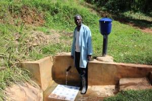 The Water Project: Jivovoli Community, Gideon Asonga Spring -  Mr Samuel Wangwa