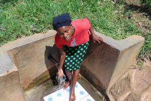 The Water Project: Mwituwa Community, Shikunyi Spring -  Margaret Wangare