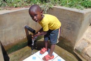 The Water Project: Mwituwa Community, Nanjira Spring -  Bravin Manyasa