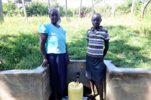 The Water Project: Ingavira Community, Laban Mwanzo Spring -  Ruth Shiundu With Rael