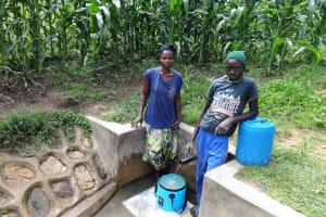 The Water Project: Masera Community, Salim Hassan Spring -  Beatrice Ngota With Likami