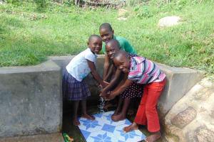 The Water Project: Ejinja Community, Anekha Spring -  Happy Kids Joy Maurine Mike And Bella