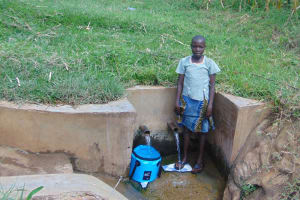 The Water Project: Burachu B Community, Shitende Spring -  Lucy Kweyu