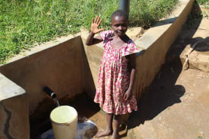 The Water Project: Emulakha Community, Alukoye Spring -  Girl At Spring