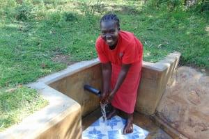 The Water Project: Mbande Community, Handa Spring -  Mrs Sarah Wamalwa