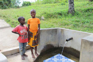 The Water Project: Indete Community, Udi Spring -  Gloria Liboshe Right