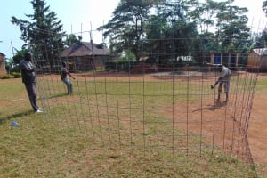 The Water Project: Ikumba Secondary School -  Preparing The Rebar