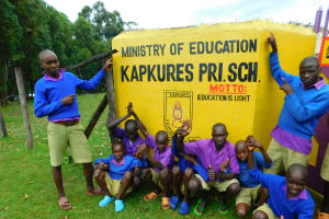 The Water Project: Kapkures Primary School -  Boys With School Motto