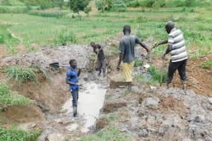 The Water Project: Shihingo Community, Inzuka Spring -  Excavation Begins