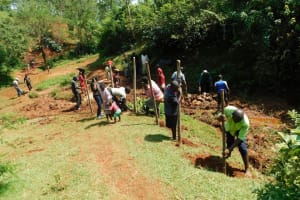 The Water Project: Mutao Community, Kenya Spring -  Community Fences Off The Area