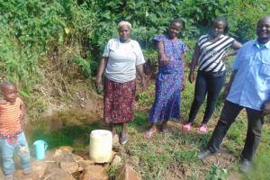 The Water Project: Mukangu Community, Metah Spring -  Community Members At The Spring