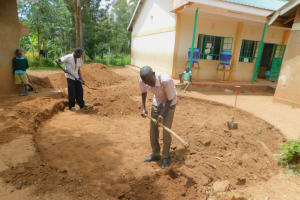 The Water Project: Makunga Primary School -  Preparing The Site