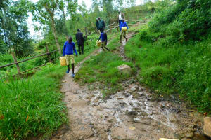 The Water Project: Kapkures Primary School -  Arriving At The Spring