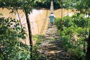 The Water Project: Sambaka Community, Sambaka Spring -  Bridge Over River Nzoia