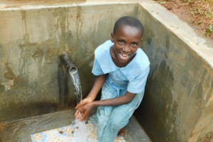 The Water Project: Mutao Community, Kenya Spring -  Smiles For Clear Water