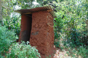 The Water Project: Munenga Community, Francis Were Spring -  Latrine