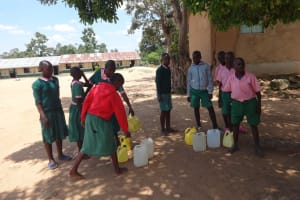 The Water Project: Mwichina Primary School -  Water Collection Point At School