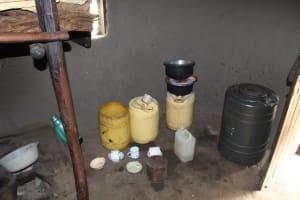The Water Project: Kalenda B Community, Lumbasi Spring -  Water Storage