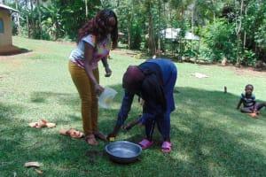 The Water Project: Buhayi Community, Nasichundukha Spring -  Handwashing Practice
