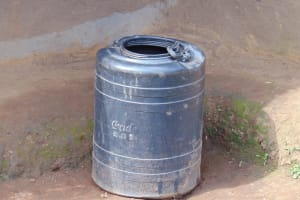The Water Project: Kimarani Community, Kipsiro Spring -  Plastic Tank For Rainwater Collection