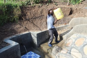 The Water Project: Eshikhugula Community, Shaban Opuka Spring -  Mounting His Water