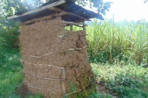 The Water Project: Mukangu Community, Metah Spring -  Latrine