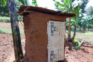 The Water Project: Kimarani Community, Kipsiro Spring -  Latrine