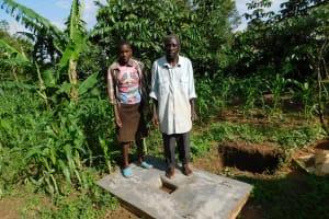 The Water Project: Shihingo Community, Inzuka Spring -  New Sanitation Platform Owners
