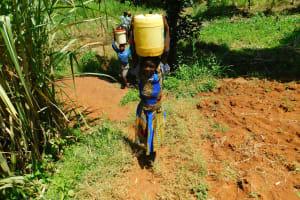 The Water Project: Ewamakhumbi Community, Mukungu Spring -  Up The Hill