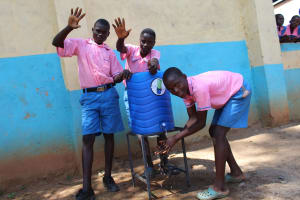 The Water Project: Irovo Orphanage Academy -  Boys Washing Hands